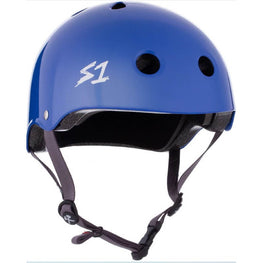 S One gloss blue skateboard helmet