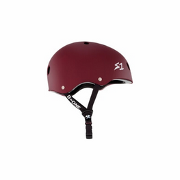 S One Lifer Matte Maroon Skateboard Helmet