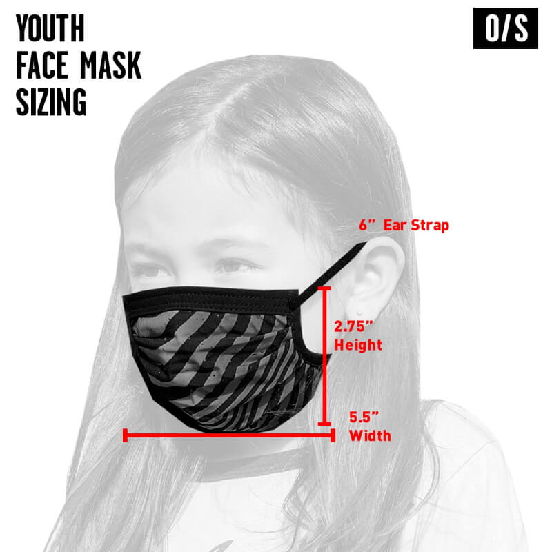 Volcom Kids Black Combo Facemask