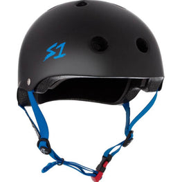 S One Black with Blue Kids Skateboard Helmet