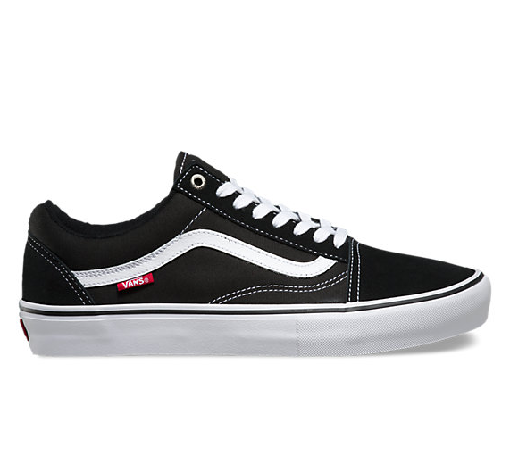 Vans Old Skool Pro Mens Black / White Skate Shoe