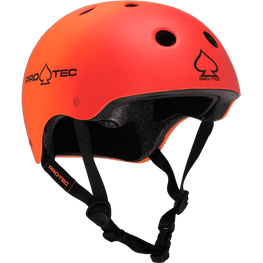 Pro Tec Classic Certified Red Orange Fade Skateboard Helmet