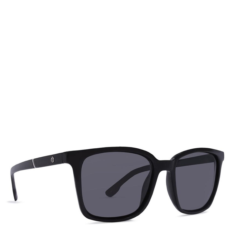 CrushEyes Panache Womens Gloss Black Polarized Smoke Sunglasses