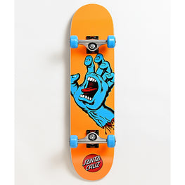 Santa Cruz Screaming Hand Orange 7.80 Inch Complete Skateboard