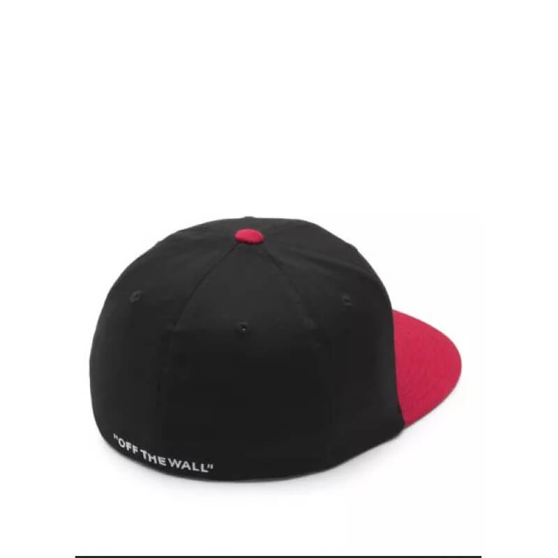 Vans Splitz Mens Black Chili Pepper Flex Fit Hat