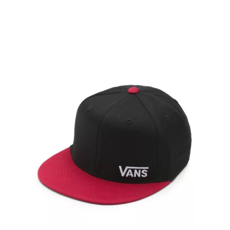 Vans black and red flex fit ball cap
