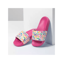 Vans Slide On Jr. Girls Rainbow Leopard Sandals