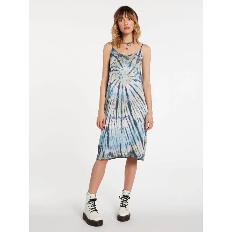 Volcom Dyed Dreams Womens Blue Dress