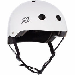S One Mini Lifer Gloss White Skateboard Helmet