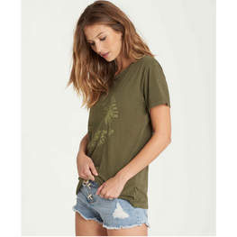 Billabong All Day Long Womens Olive Tee Shirt