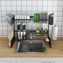 Load image into Gallery viewer, Stainless Steel Over Sink Draining Dish Rack