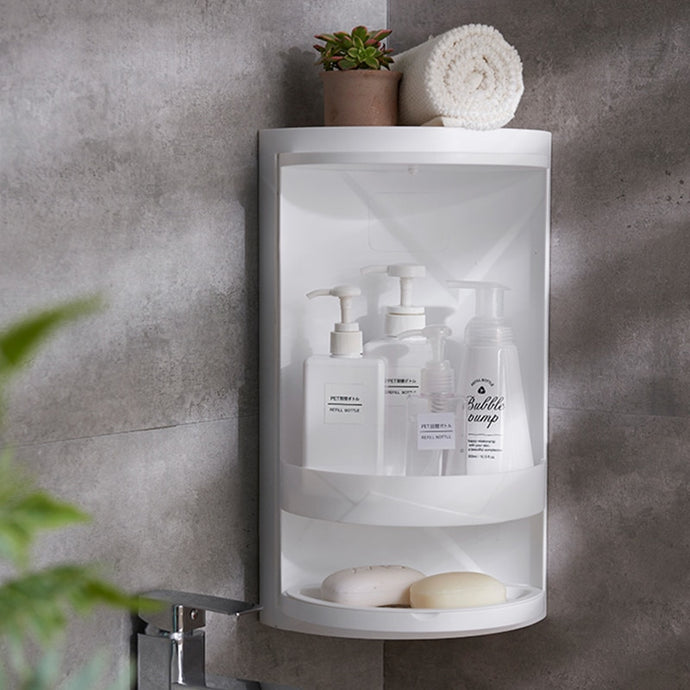 Rotating bathroom Corner shelf