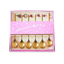 Load image into Gallery viewer, Stainless Steel Christmas Tea Spoons 6pcs Set