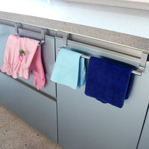 Stainless Steel Over-The-Door Towel Stand