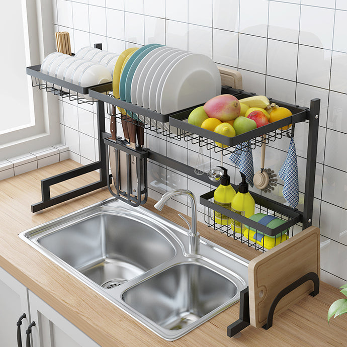 Stainless Steel Over Sink Draining Dish Rack