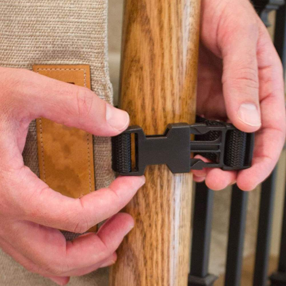 Banister-To-Banister Retractable Safety Gate