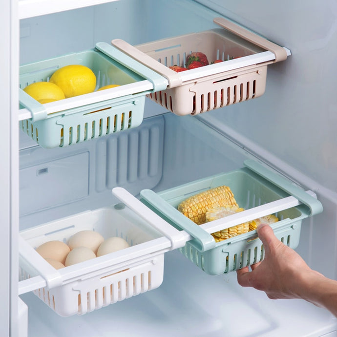 Expandable Pull Out Refrigerator Drawers