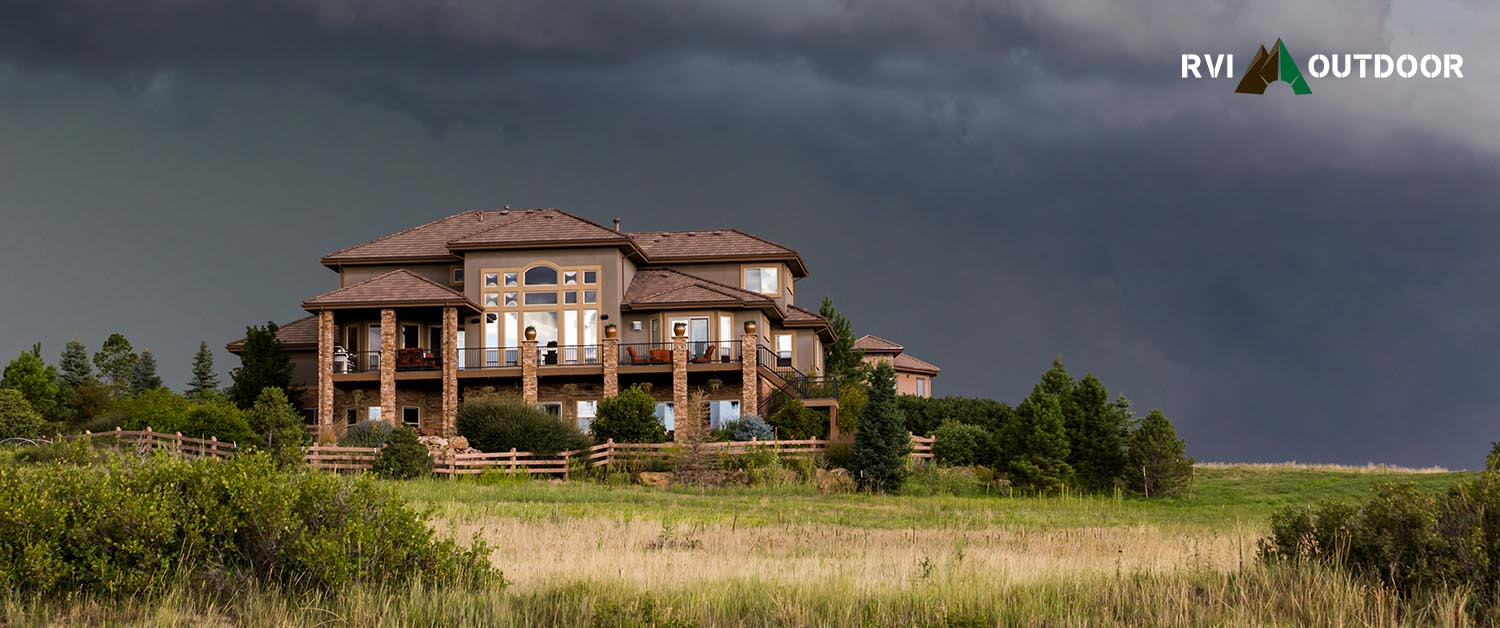 House with Stormy Sky