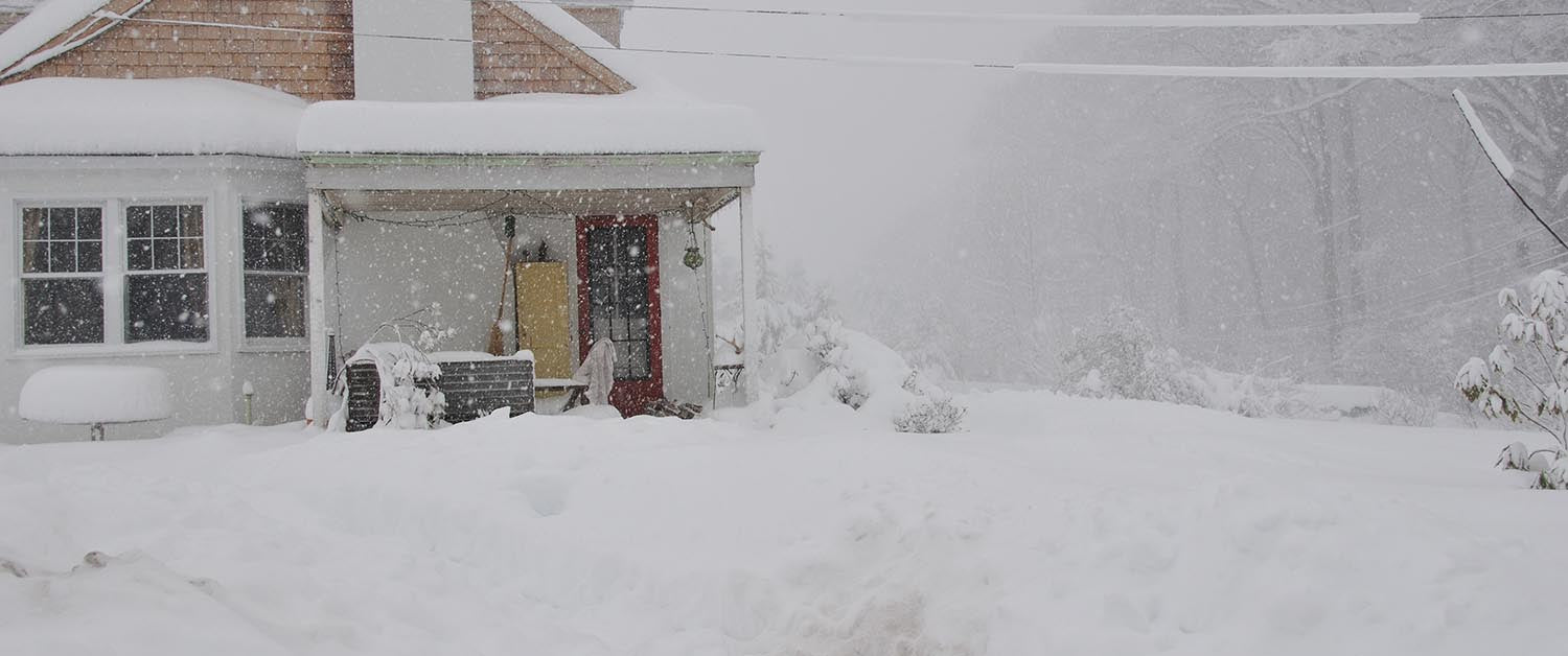 House in Blizzard