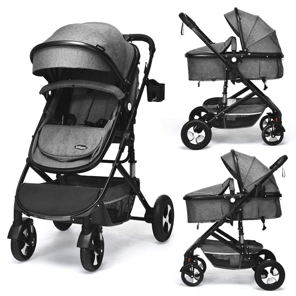 Baby Bassinet Stroller - 2 In 1 Design