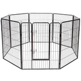 "Heavy Duty Pet Playpen Dog Fence 40"" 8 Metal Panel"