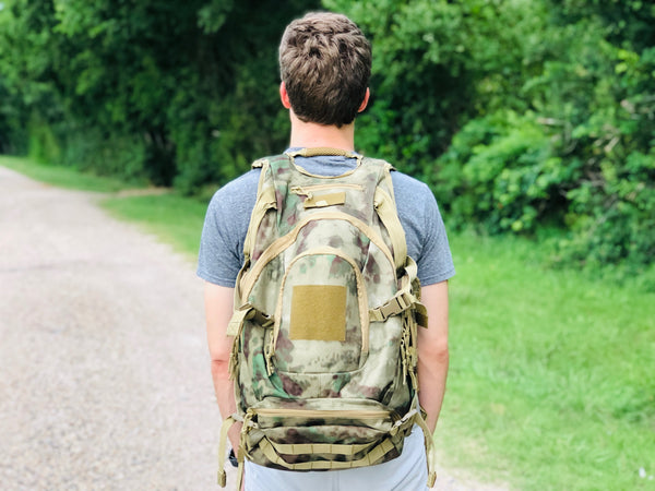 Heavy Duty Urban Backpack - Green Camo