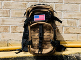 Laser Cut Assault Backpack w/ Removable Patch - Tan