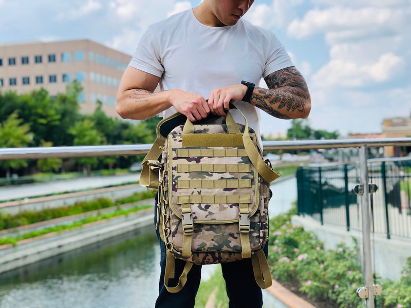 Laptop Backpack - Desert Camo