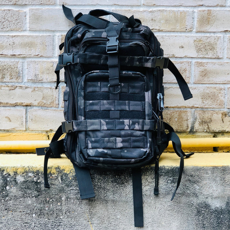 Assault Backpack - Black Camo