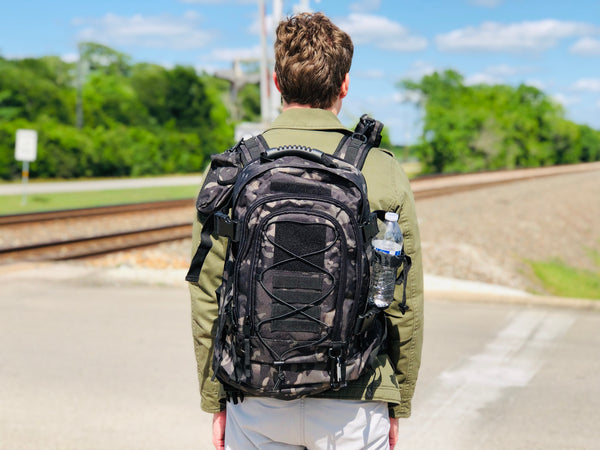 3 Day Expandable and Hydration Backpack - Black Camo