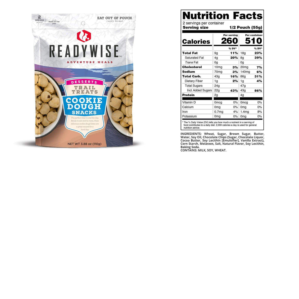 ReadyWise Trail Treats Cookie Dough Snacks | 6-pack Container