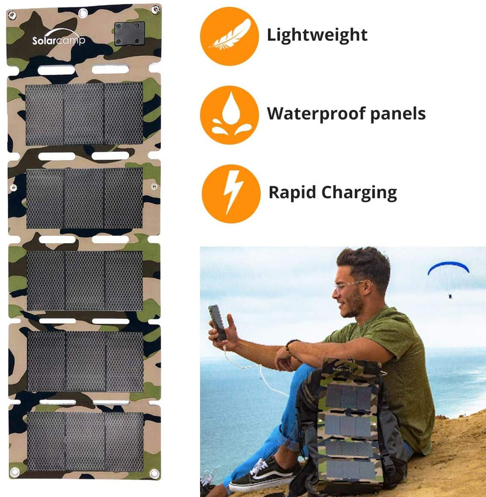 10  W Solympic Camo Solar Charger