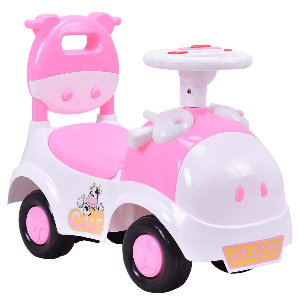 Toddler Ride-on Toy Car 3-in1 Pink Calf Baby Walker