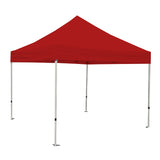 Instant Pop Up Tent w/ RED Cover ATHENA 10X10 WHITE FRAME