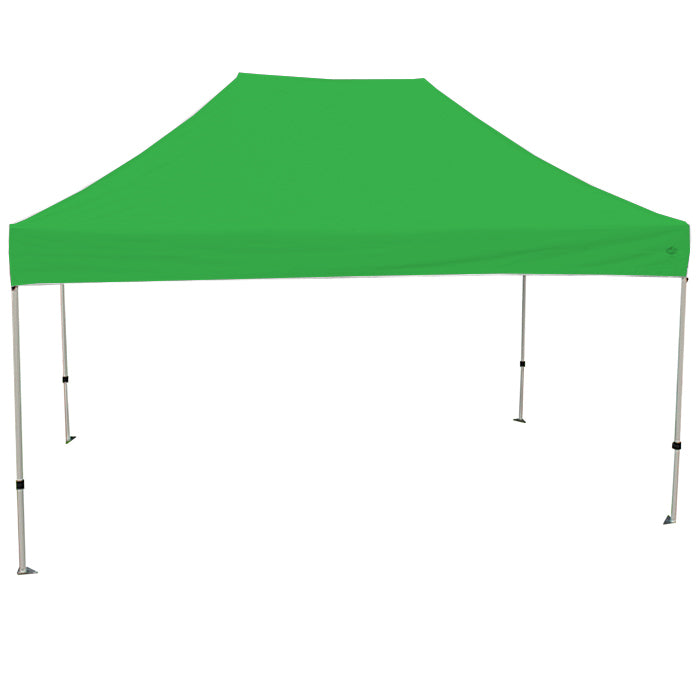 Instant Pop Up Tent w/ GREEN Cover ATHENA 10X15 WHITE FRAME