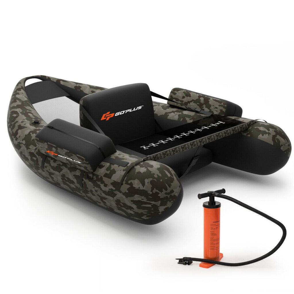 Inflatable Fishing Float with Adjustable Straps & Storage Pockets