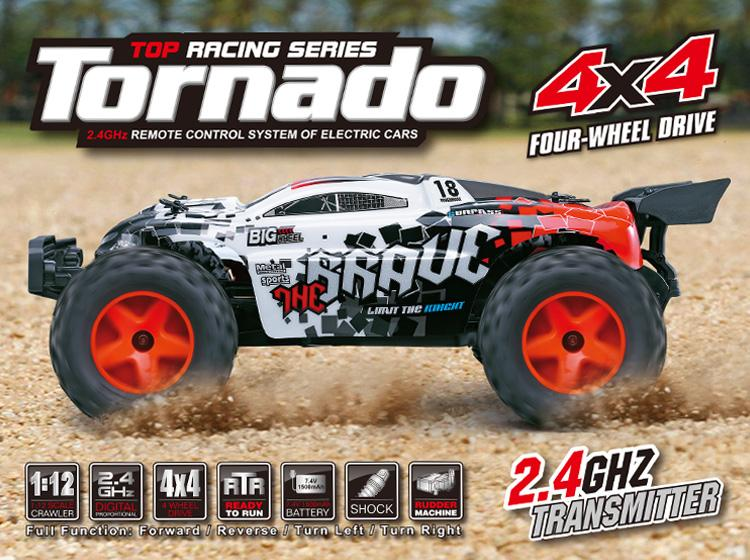 Tornado Subotech Water Resistant 4WD High Speed Off-Road Remote Control Car