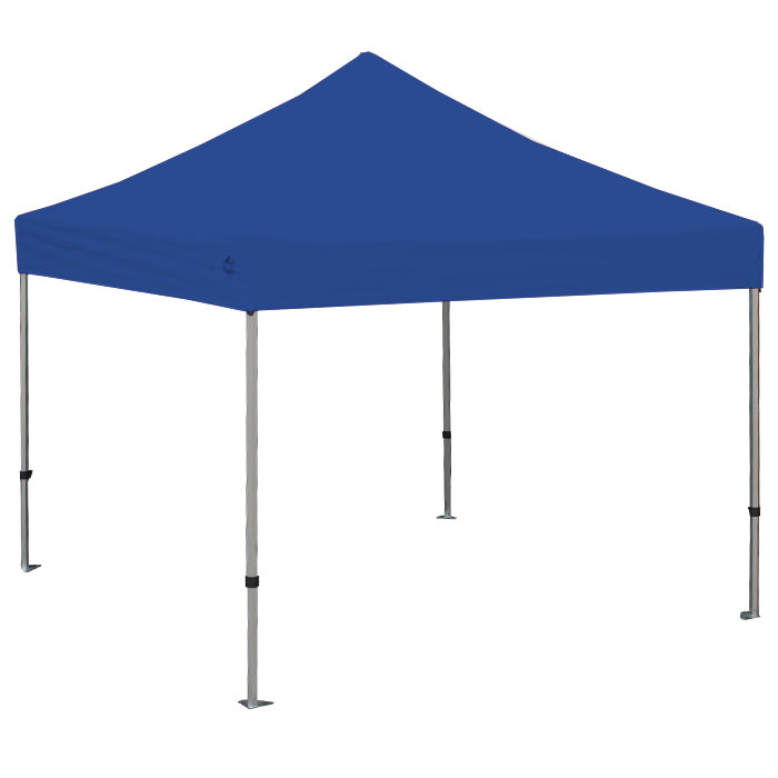 GOLIATH 10X10 SILVER FRAME Instant Pop Up Tent w/ BLUE Cover