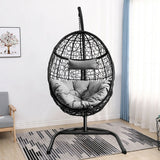 Hanging Cushioned Hammock Chair with Stand