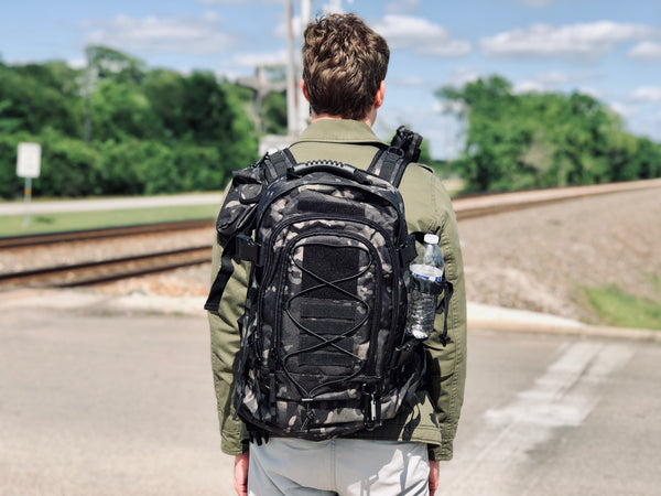 3 Day Expandable and Hydration Backpack - Woodland Camo