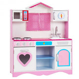 Wood Kitchen Toy Kids Cooking Pretend Playset