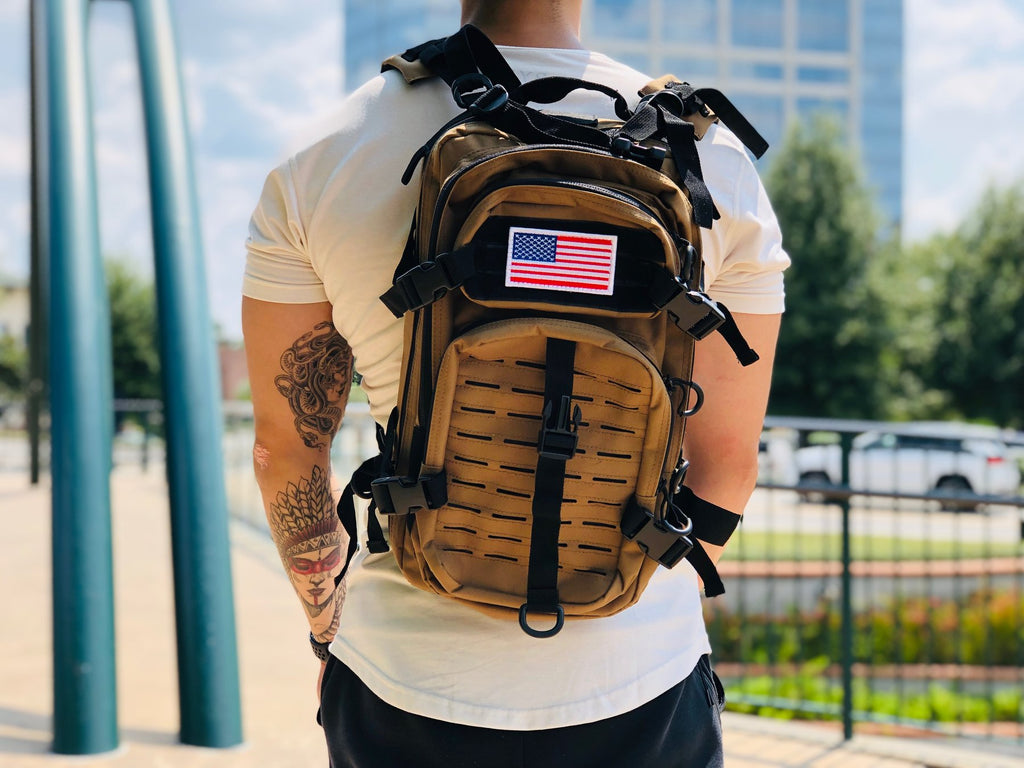 Laser Cut Assault Backpack w/ Removable Patch - Pink Camo