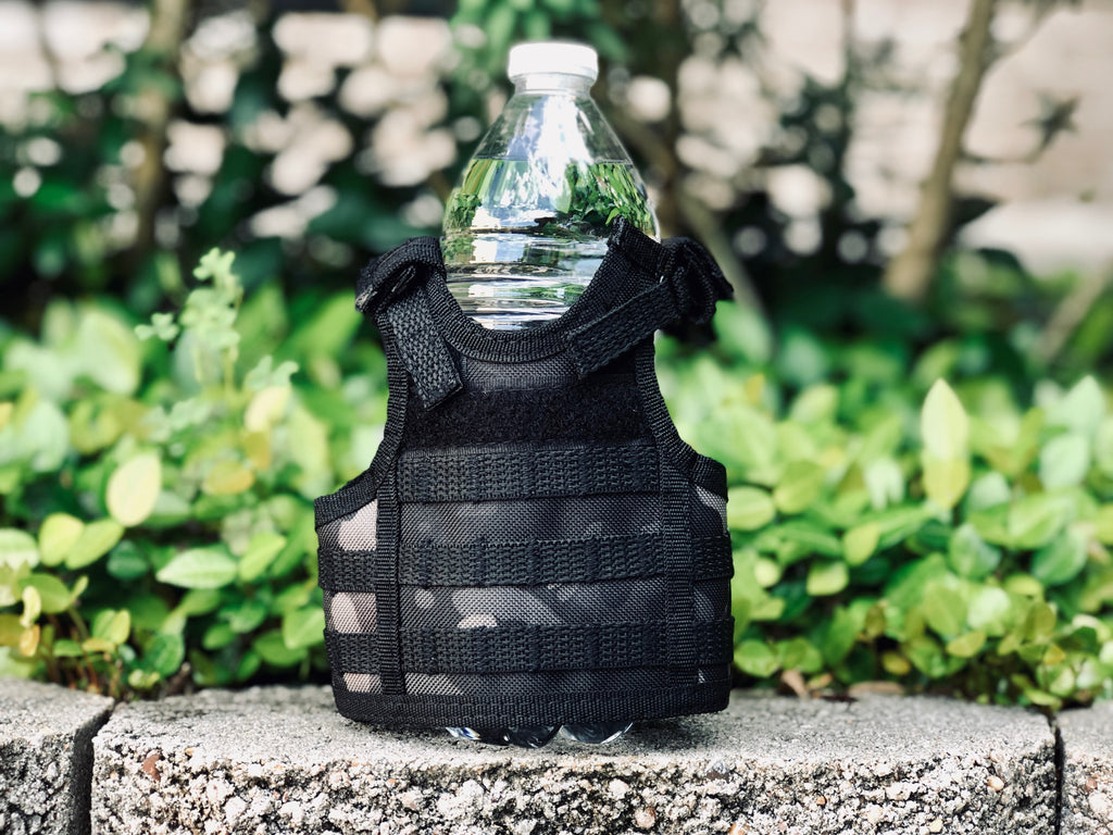 Mini Tactical Vest - Black Camo