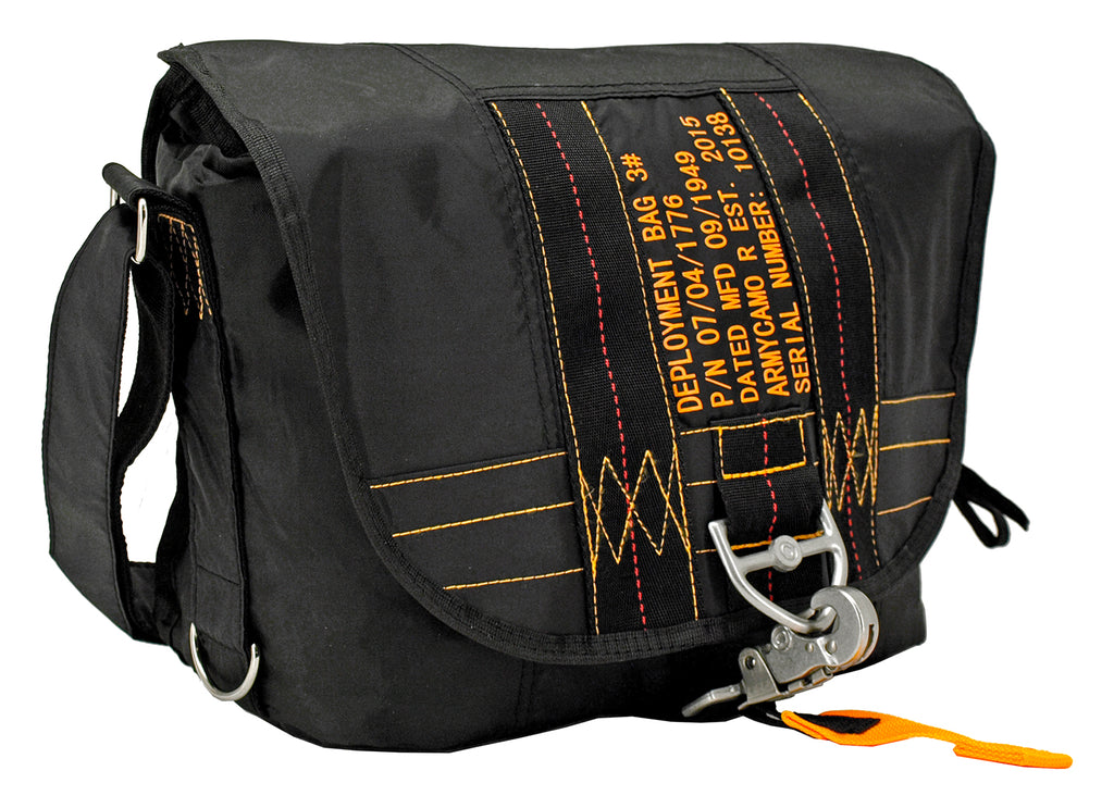 Parachute Messenger Bag - Black