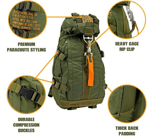 Parachute Flight Backpack - Olive