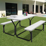 Picnic Table Bench Set for Outdoor Camping