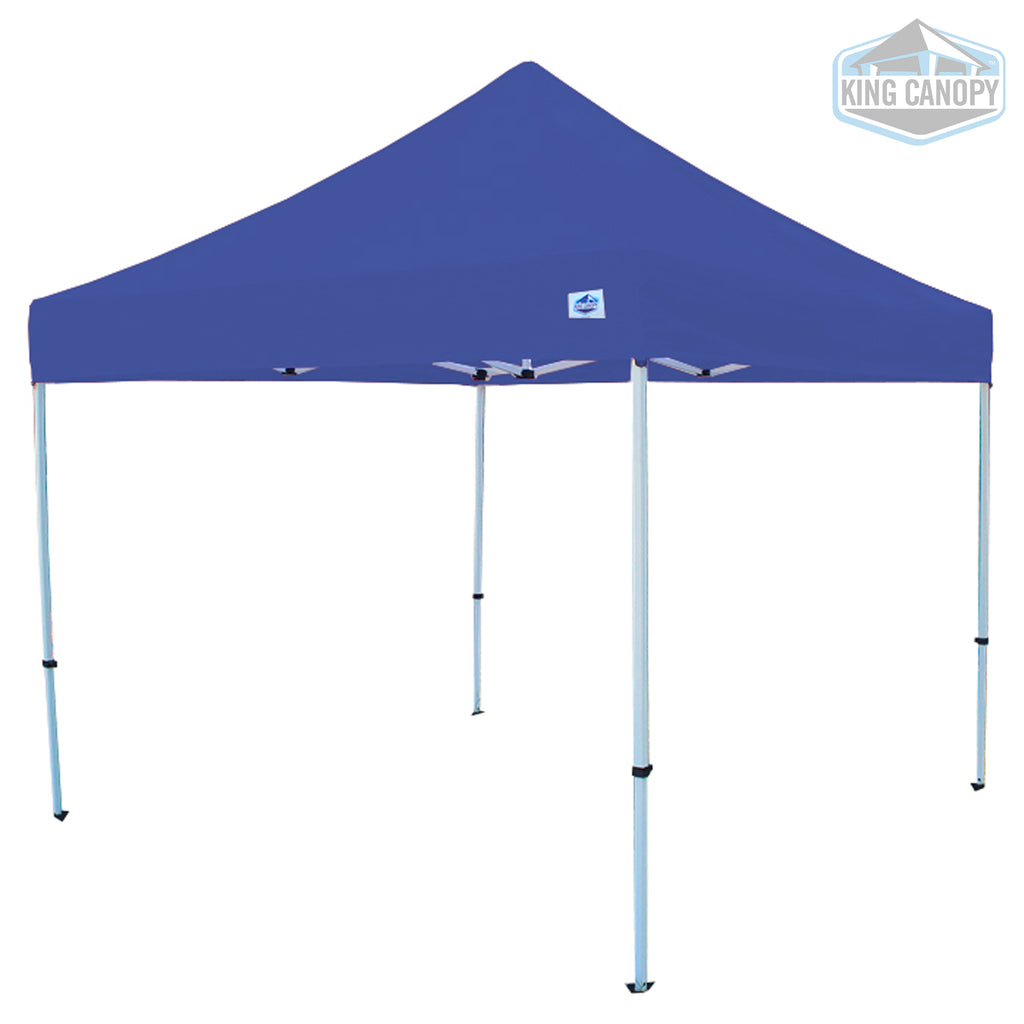 Tuff Tent Pop-up Canopy White Frame Blue Top Measures 10 ft X 10 ft