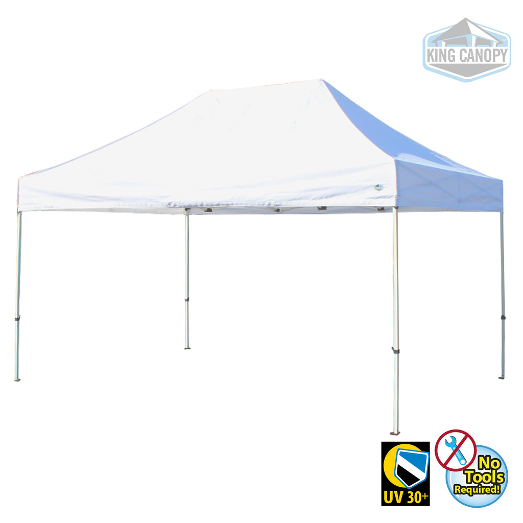 TUFF TENT WHITE Frame 10X15 Instant Pop Up Tent