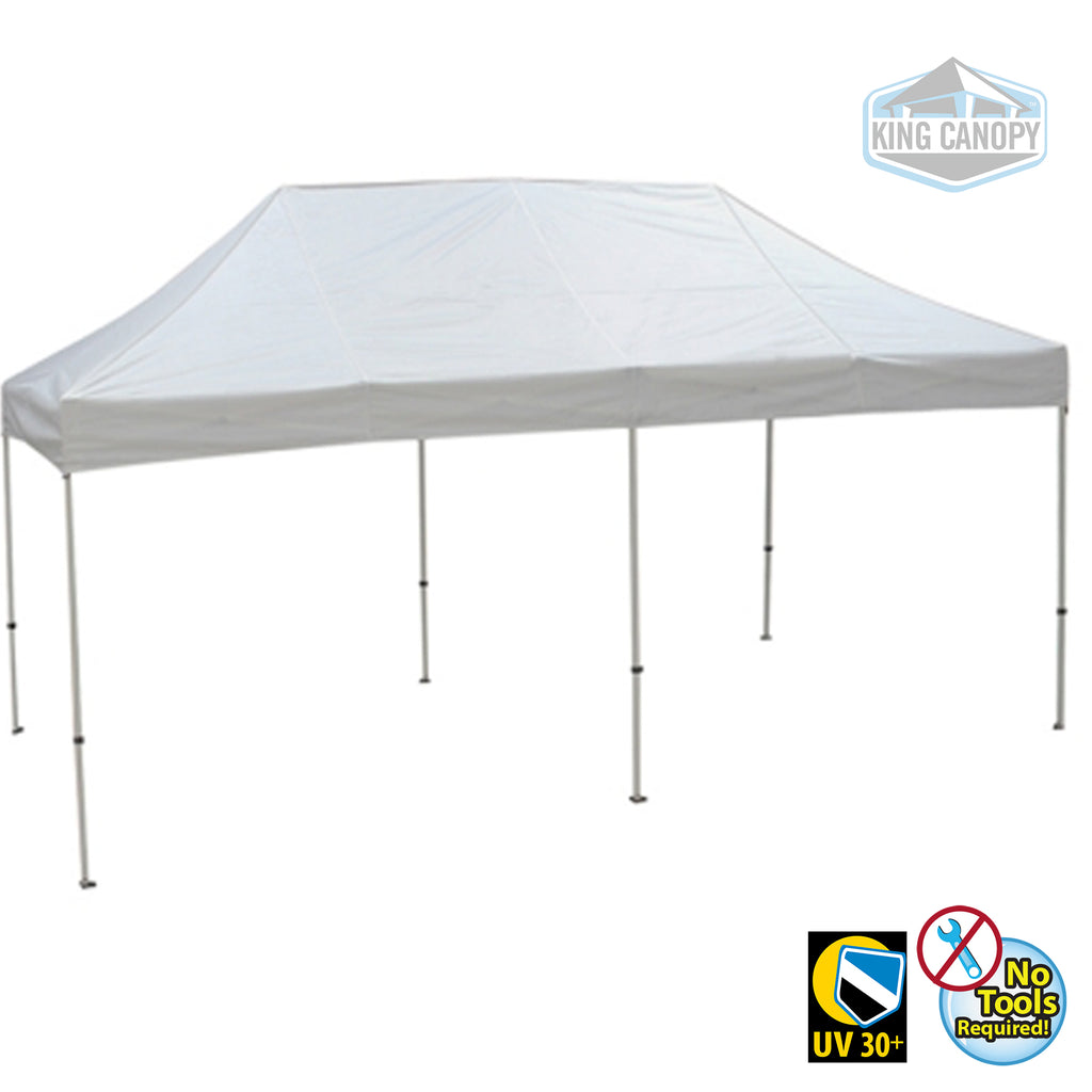 Tuff Tent Pop-up Canopy White Frame White Top Measures 10 ft X 20 ft