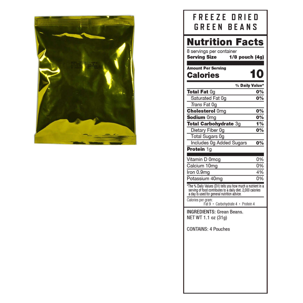 Freeze Dried Vegetables 240 Serving